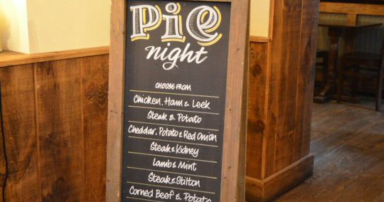 Back At The Three Horseshoes, Clay Cross, For Pie Night