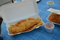 A Fish & Chip Supper From Mario's Fish Bar In Alfreton