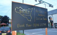 Out For Dinner At Sicily Restaurant In Chesterfield